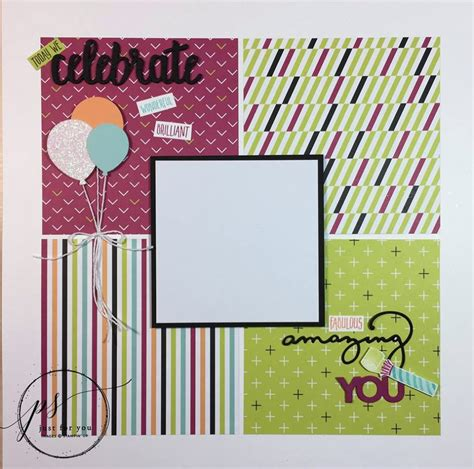 tutorial scrapbook birthday picture perfect birthday scrapbook layout tutorial lisa