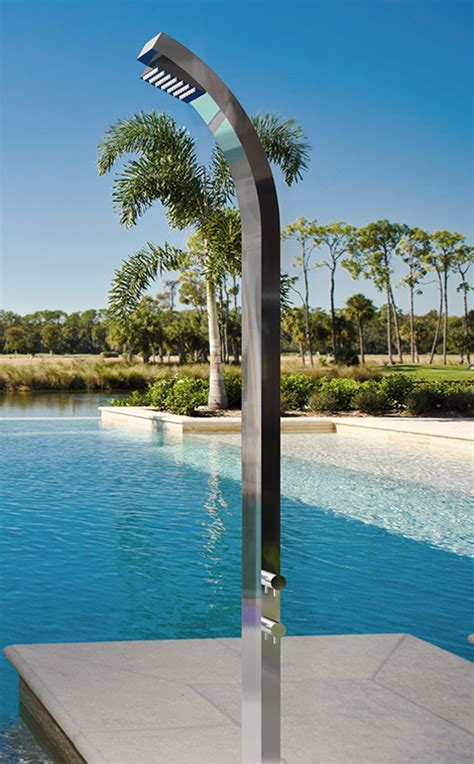 Poo Shower by Outdoor Shower For Ppool The Interior Design Inspiration
