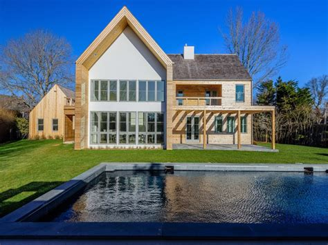 barn style house breathtaking modern barn style house architecture rectangle swimming pool green grass