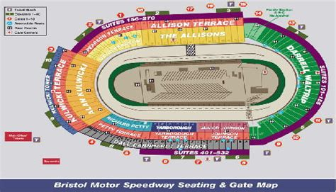 bristol motor speedway 3d seating chart sports empire sports and special event travel packages