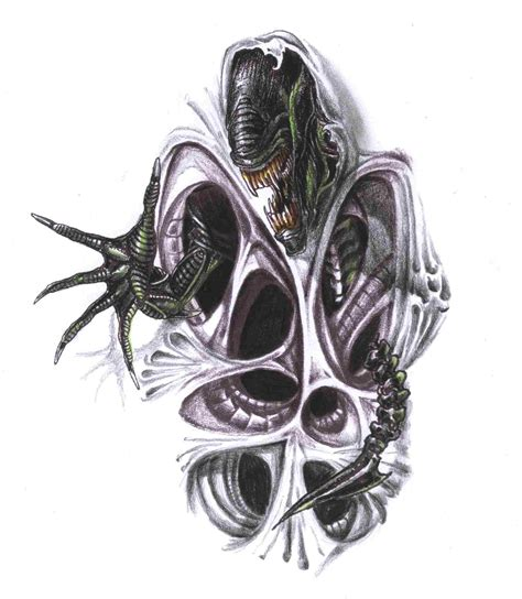 biomechanical tattoo navrhy alien tattoos and designs page 14