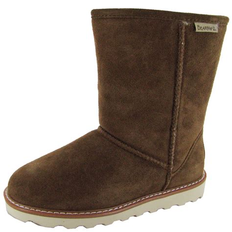 bearpaw shoes bearpaw womens payton 8 inch suede sheepskin boot shoe ebay
