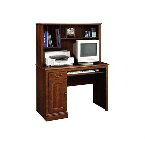 wood computer desks with hutch camden country collection wood w hutch planked cherry computer desk