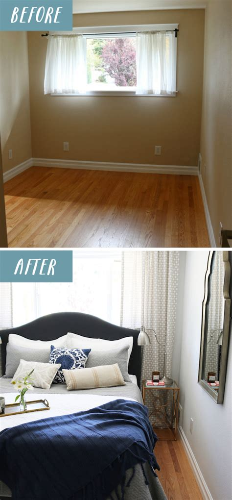 before and after bedroom makeovers small bedroom makeover before after the inspired room