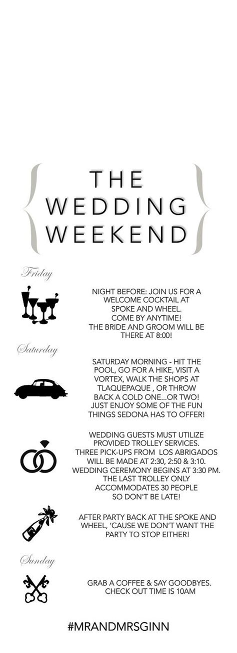 Best 25 Wedding Weekend Itinerary Ideas On Pinterest Welcome Bags Wedding Weekend And Wedding Weekend Itinerary Template Free