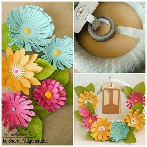 tutorial scrapbook 3d doodlebug 3d flower wreath tutorial by sharm doodlebug