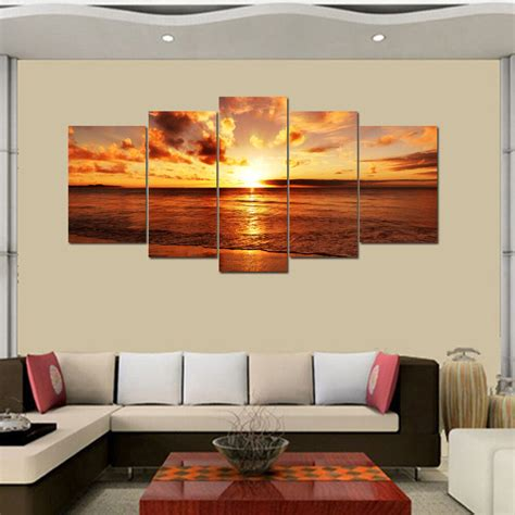 ship canvas print wall art painting split sea sunrise