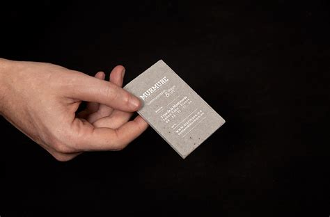concrete business cards murmure project concrete business cards