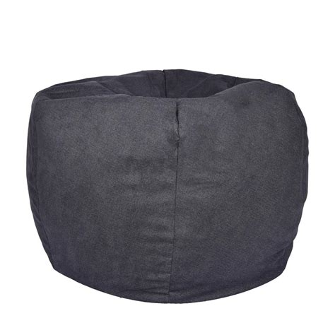 structured bean bag chair fur structured bean bag 9587001 the home depot