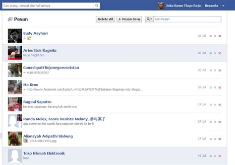 fb cepat cara cepat menghapus semua inbox di facebook