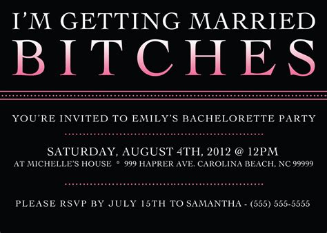 bachelorette invitations free template printable bachelorette invitation 5 x 7 bachelorette