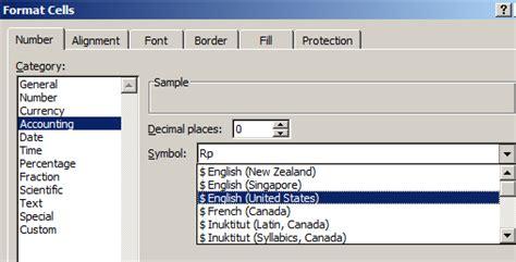 format excel rupiah cara membuat simbol dollar ke rupiah di excel 2007 info