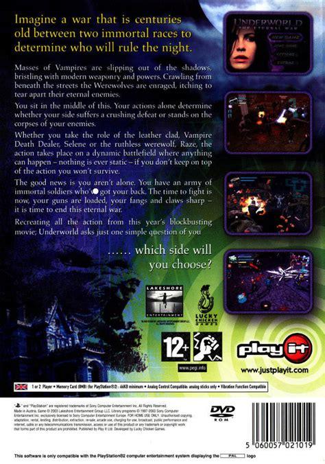 The Eternal War underworld the eternal war box for playstation 2
