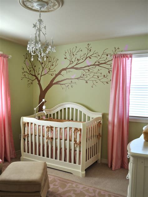 green and pink nursery awesome beige dark brown wood glass cool design baby room