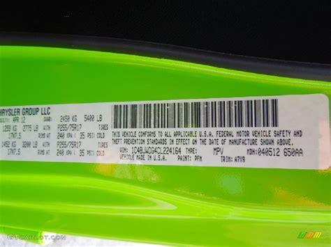 Lamborghini Lime Green Paint Code 2012 Wrangler Unlimited Color Code Pfm For Gecko Green