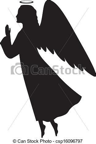 Printable Wall Murals eps vectors of christmas angel silhouette of a christmas