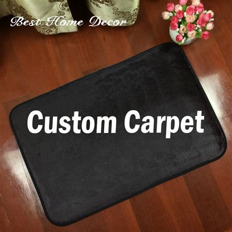 custom logo brand your text photo carpet rug customized
