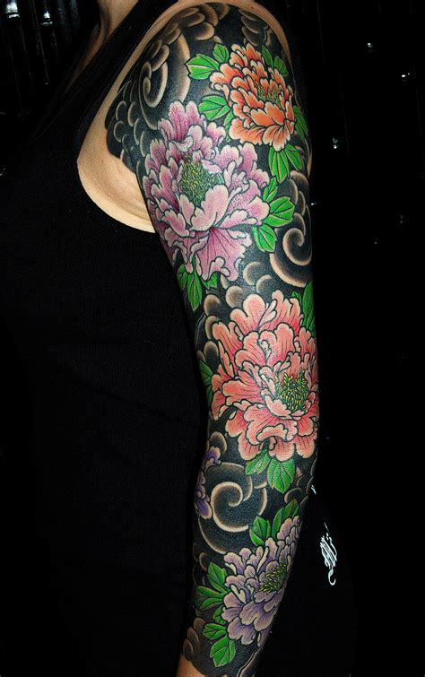 traditional japanese tattoo sleeve designs 1000 ideas about japanese peony on