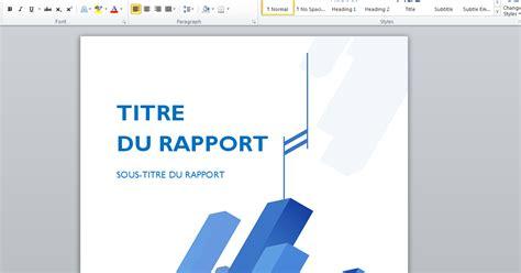 Modele Rapport Word