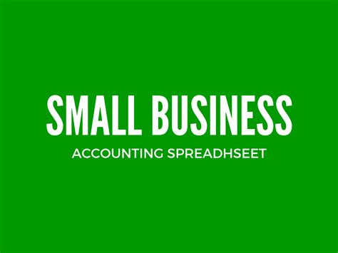 Small Home Business Bookkeeping Small Business Excel Bookkeeping Template