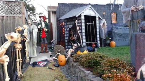 halloween yard display 2013 youtube