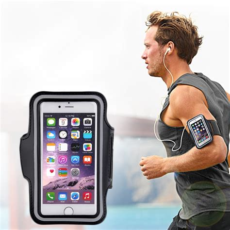 Sporty Phone Armband sports exercise running armband pouch holder bag for cell phone free shipping in