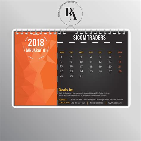 calendar design with photos creative calendar designs for 2018 easyprint blog