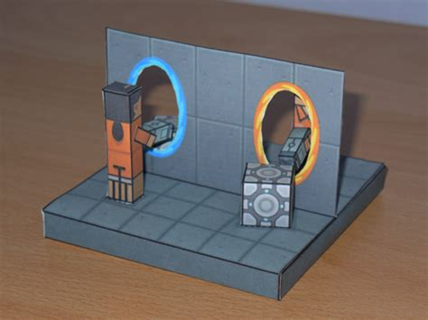 aperture science paper crafts magazine