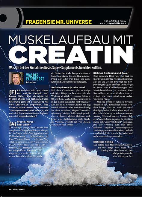 creatin einnahme wann kolumne 44 muskelaufbau mit creatin
