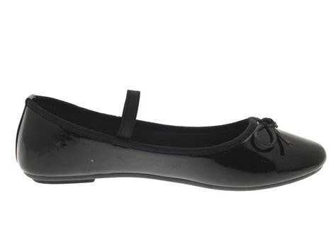 flat black ballet shoes womens flat black ballet pumps slip on ballerinas
