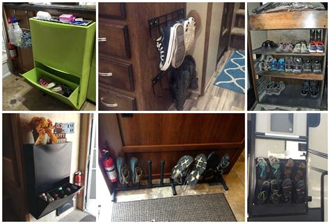 rv shoe storage calm the clutter rv storage solutions and organization