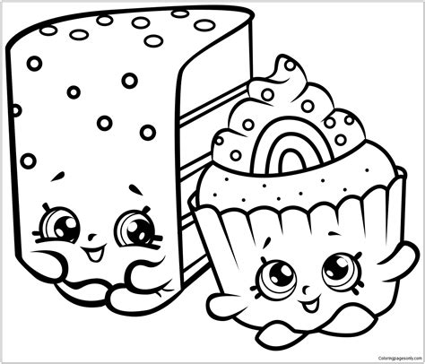 coloring book pages cakes shopkins coloring page free coloring pages