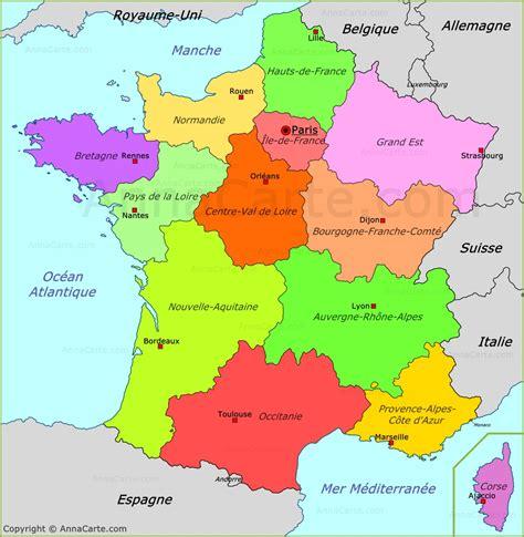 francs fcil para la 8467044438 carte politique de la france annacarte com