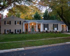 split level house with front porch split level porch houzz