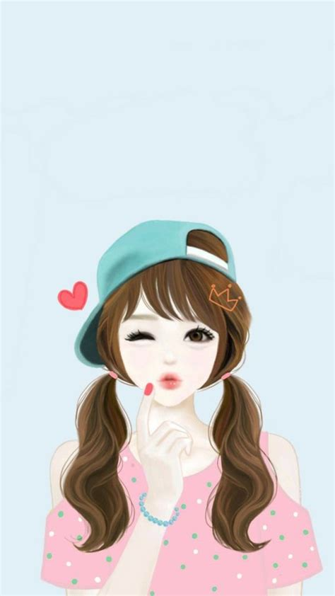 wallpaper cute korean girl kawaii cute wallpapers and kawaii on pinterest