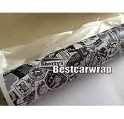 2018 Black White Stickerbomb Vinyl Real Logos Matte