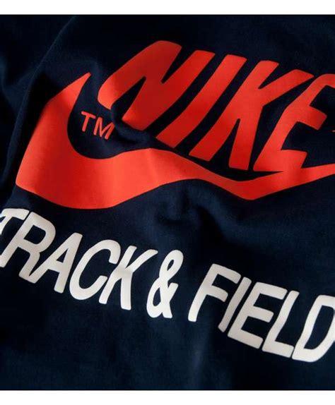 T Shirt Navy Nike Track Field nike track and field logo t shirt scotts menswear
