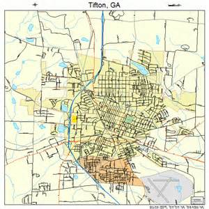 map of tifton tifton map 1376476