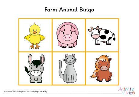 printable animal lotto cards farm animal bingo game