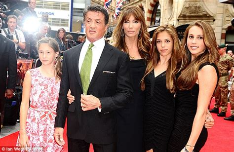 rambo film zenéje sylvester stallone poses alongside his wife and three