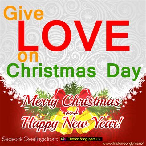 give love on christmas day lyrics song lyrics