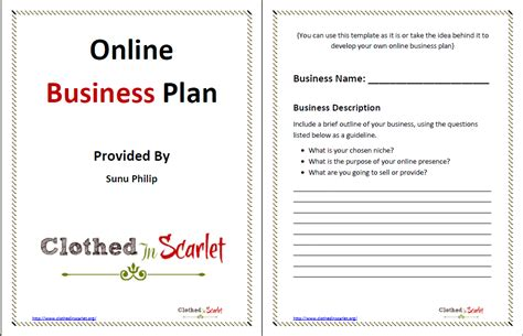 business plan templates free download free business template