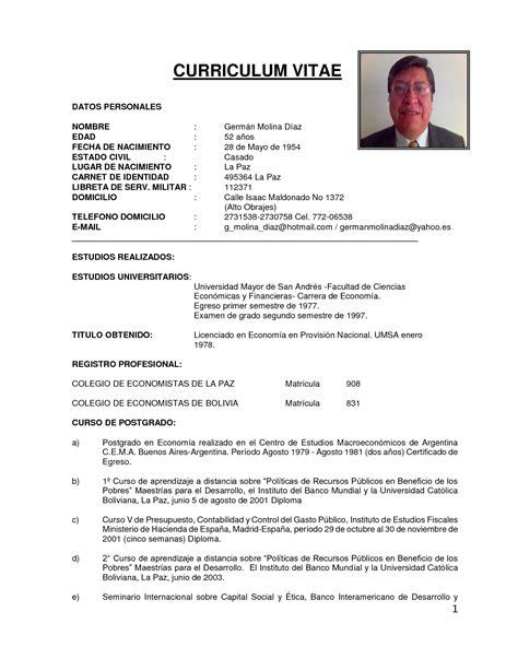 Modelo Curriculum Profesional Chile Ejemplos De Curriculum Vitae De Un Administrador De Empresas