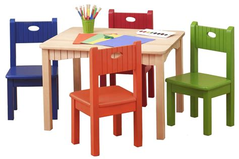 a wooden folding table and chair set chair