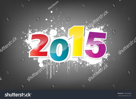 new year photo effect new year 2015 wallpaper grunge effect eps10 vector