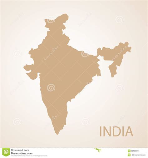 india map vector india map brown vector illustration stock vector image