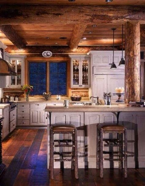 log home kitchen cabinets log cabin kitchen food pinterest