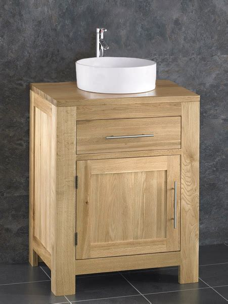 bathroom bowl sink cabinet solid oak bathroom 60cm wide vanity furniture unit sink