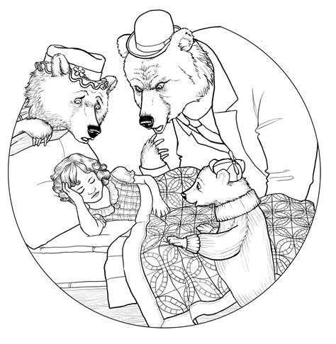 three bears coloring page free coloring pages of goldilocks and 3 bears