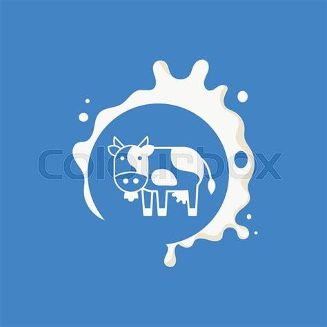 design milk wiki cow milk product logo cool flat vector design template on